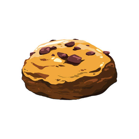 chocolate chip: chocolate chip cookie Illustration