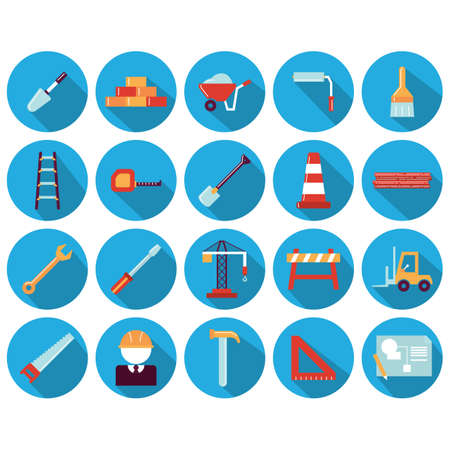 hand trowel: set of construction icons