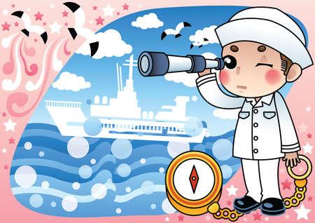 spyglass: sailor with spyglass