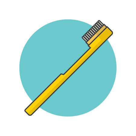 bristles: toothbrush Illustration