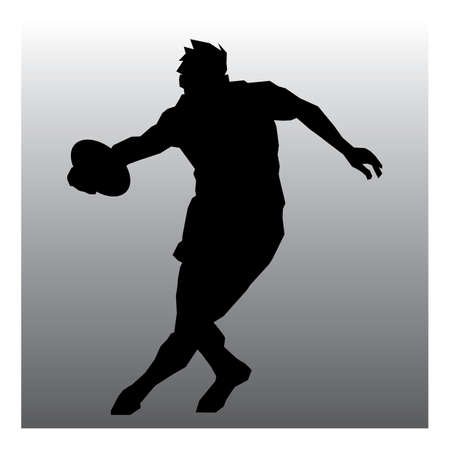 rugby player: rugby player in action Illustration