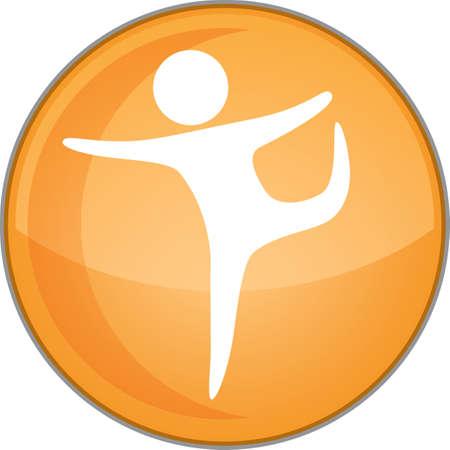 dance pose: yoga lord of the dance pose