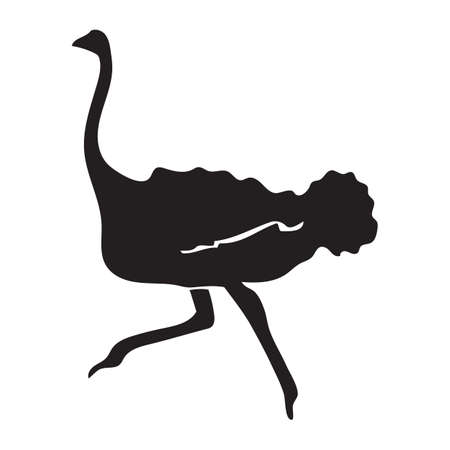 outs: silhouette of ostrich
