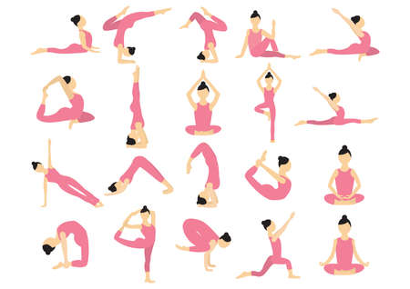 king cobra: set of yoga icons