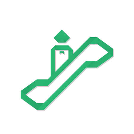 man on escalator origami
