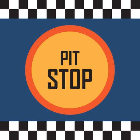 pit stop Illustration