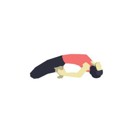 reclining: girl practising yoga in reclining hero pose