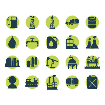 jerry: set of oil and gas icons