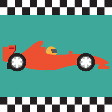 the car: race car Illustration
