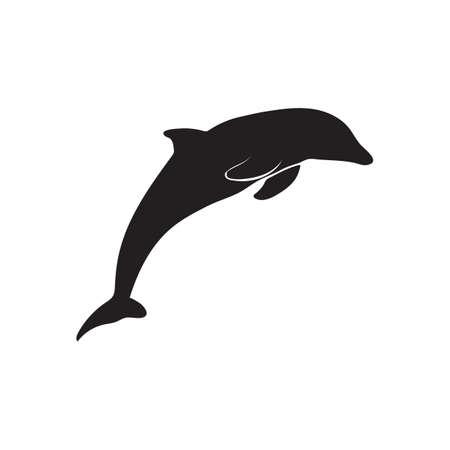 silhouette of dolphin 向量圖像