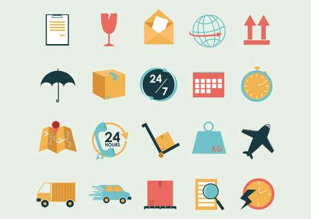 colección de iconos de logística y envío