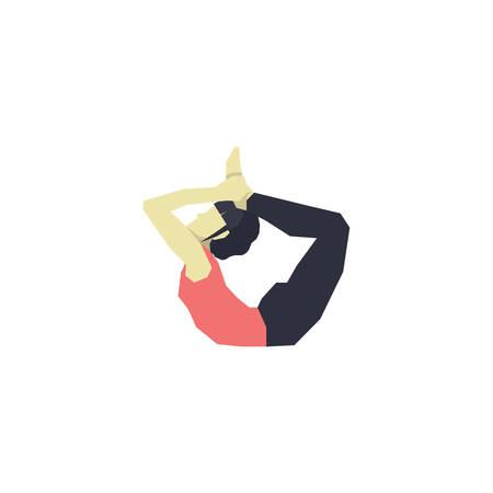 ragazza praticare lo yoga in posa di prua variazione