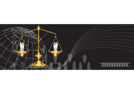 fairness: justice concept Illustration