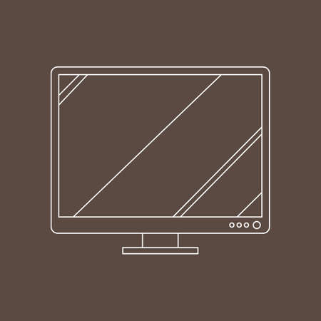 lcd: lcd screen Illustration