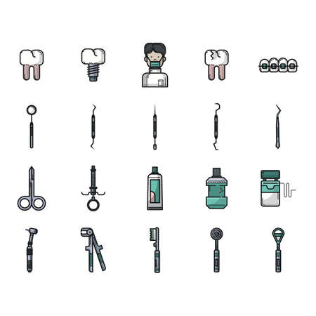 tongue cleaner: dental icons