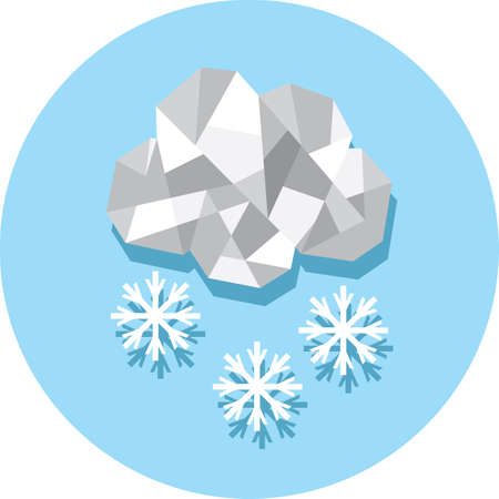 cloud: cloud and snowflake Illustration