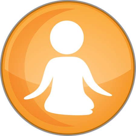 lotus pose: yoga lotus pose Illustration