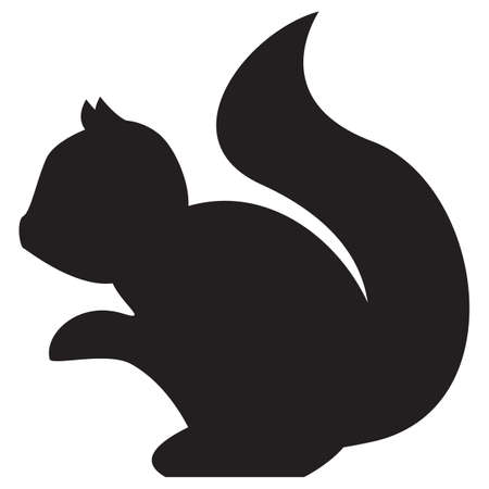 outs: silhouette of squirrel