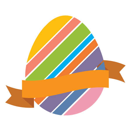 ribbon: easter eggs with ribbon