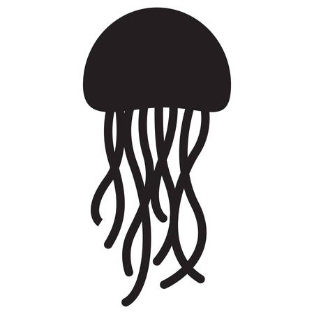 silhouette of jellyfish