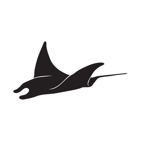 sting: silhouette of sting ray Illustration