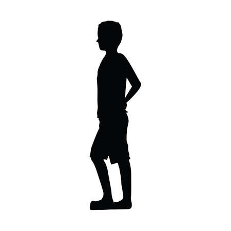 silhouette of man standing Иллюстрация