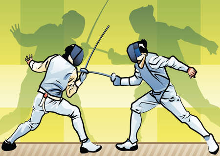 fencers: fencers in action