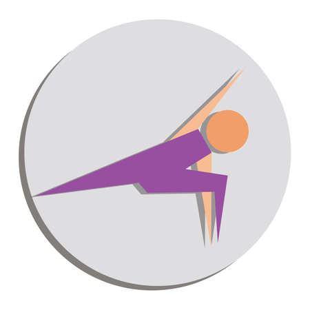 angle: yoga extended side angle pose Illustration