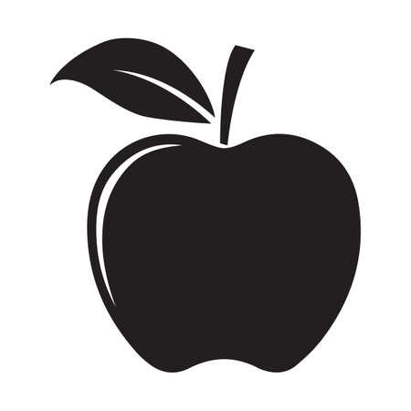 apple silhouette Vektorové ilustrace