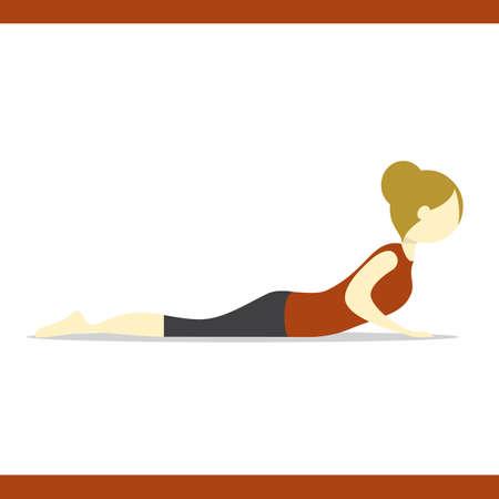 ragazza praticare lo yoga in posa della cobra