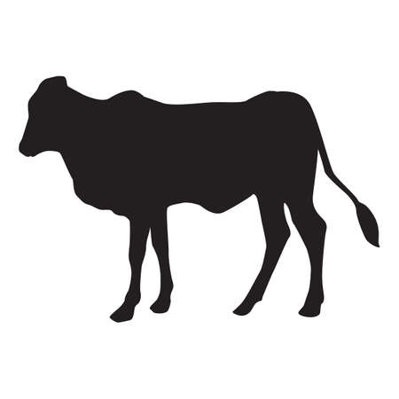 outs: silhouette of cow Illustration