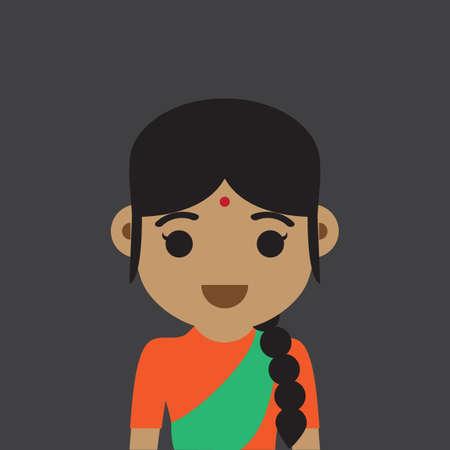 girl: indian girl Illustration