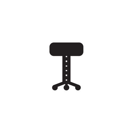 stool: silhouette of stool Illustration