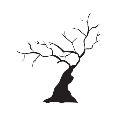 Silhouette von kahlen Baum