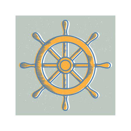 rudder ship: ship wheel rudder
