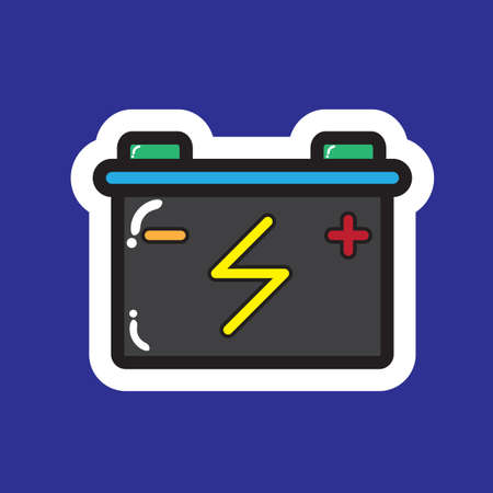 battery acid: battery Illustration