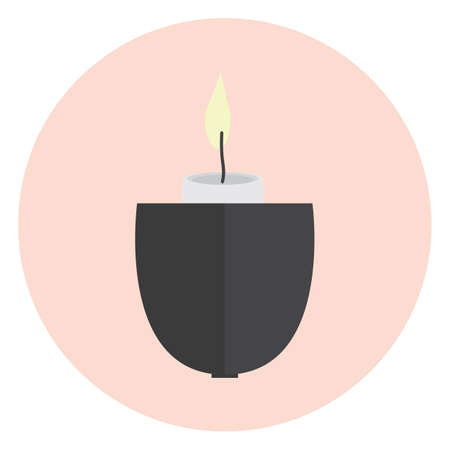 burning: burning candle in holder