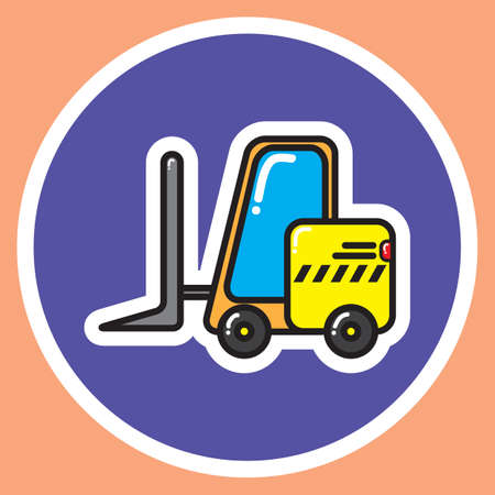 fork lifts trucks: fork lift truck Illustration