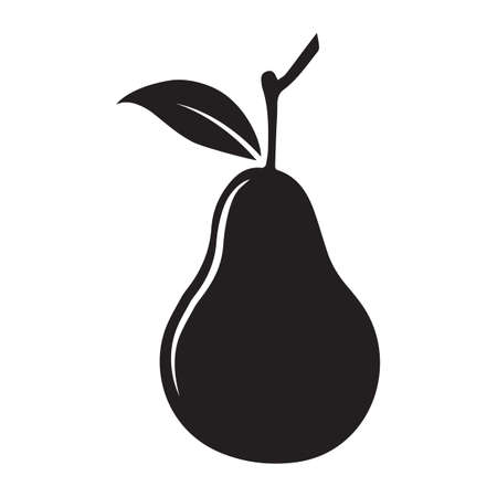 outs: silhouette of pear Illustration