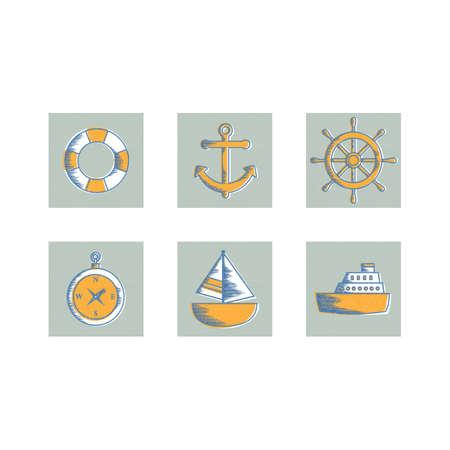 harbor: set of harbor icons