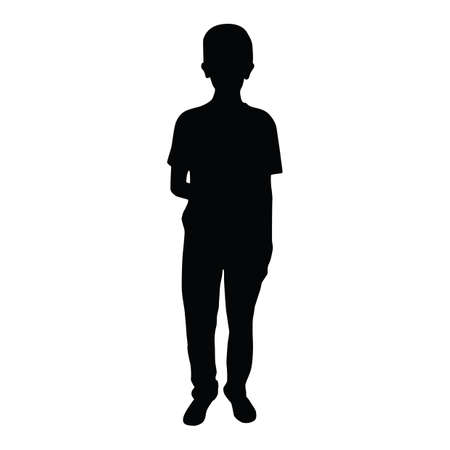 silhouette of boy standing