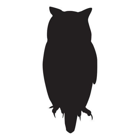 silhouet van de uil