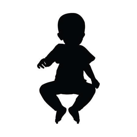 Silhouette Baby Vektorgrafik