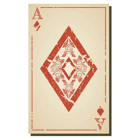 ace: ace of diamond Illustration