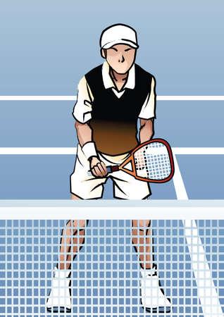 tennisspeler in actie