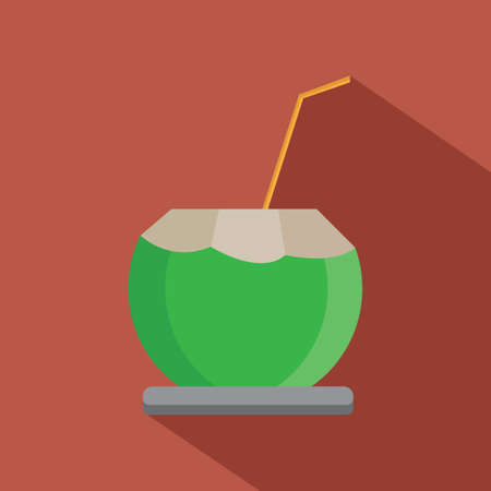 coconut drink: coconut drink Illustration