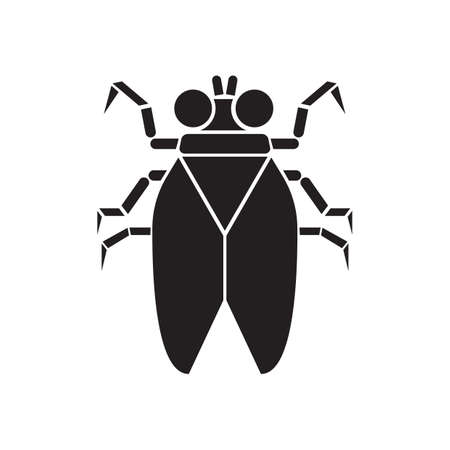 housefly: silhouette of housefly Illustration