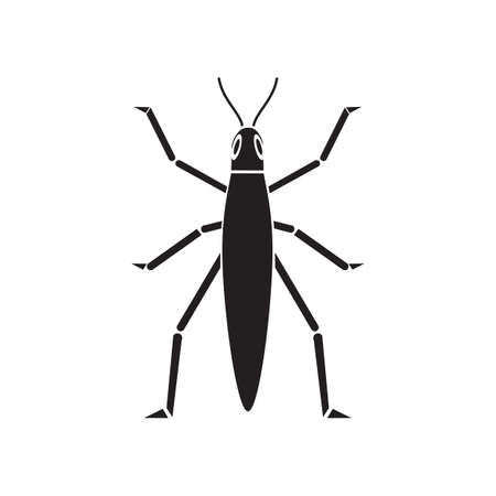 crickets: silhouette of cricket