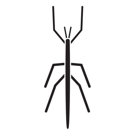 stick insect: silhouette of giant stick Illustration