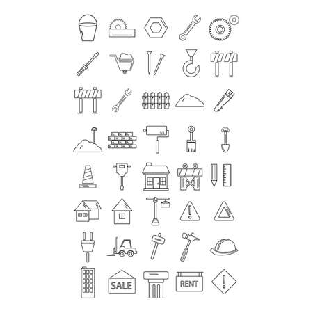 driller: set of construction icons